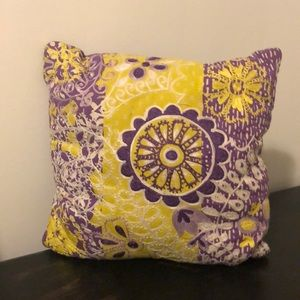 Embellished Lace Throw Pillow